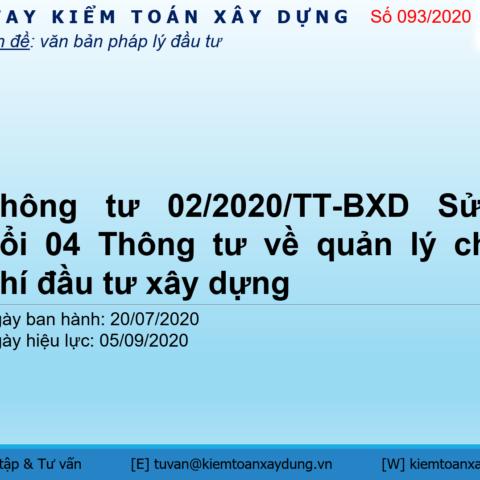 Thông tư 02/2020/TT-BXD
