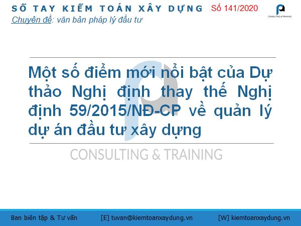 thay thế Nghị định số 59/2015/NĐ-CP